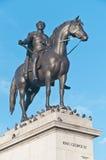 英国乔治四世伦敦国王雕象 免版税库存照片