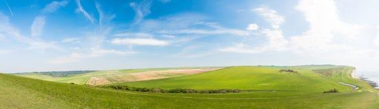 英国乡下全景 库存照片