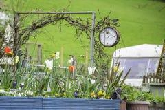 英国乡下在春天,北部威尔士英国 免版税库存照片