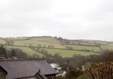 英国乡下在雨中 库存照片