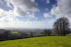 英国乡下在3月 免版税库存图片