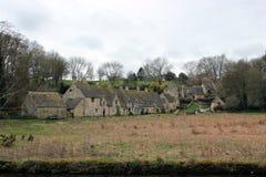 英国乡下风景的老房子 图库摄影