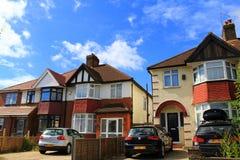 英国伦敦的郊区 免版税库存图片
