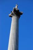 英国伦敦nelsons柱子 免版税库存照片