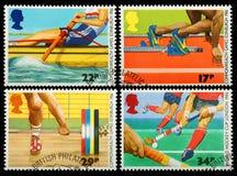英国体育邮票 免版税库存照片