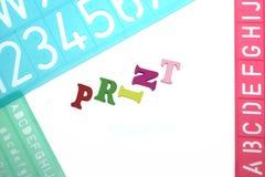 英国信件塑料模板印刷字母表 免版税库存图片