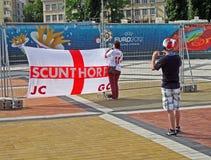 英国做照片体育运动的标志乐趣 库存图片