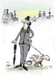 英国先生们和他的狗 向量例证