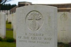 英国公墓富兰德调遣巨大世界大战 库存照片