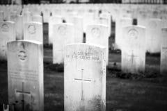 英国公墓富兰德调遣巨大世界大战 图库摄影