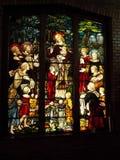 英国公墓教堂-窗口马拉加 免版税库存照片