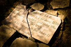 英国公墓的墓碑在加德满都,尼泊尔 库存图片