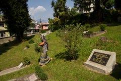 英国公墓的墓碑在加德满都,尼泊尔 图库摄影