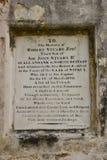 英国公墓的墓碑在加德满都,尼泊尔 免版税库存图片