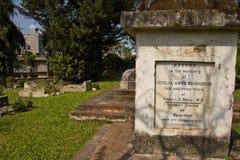 英国公墓的墓碑在加德满都,尼泊尔 库存照片