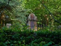 英国公墓的遗骸Monte的Urgull Donostia,西班牙 在Monte Urgull 库存照片