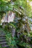 英国公墓的遗骸Monte的Urgull Donostia,西班牙 在Monte Urgull 免版税库存图片