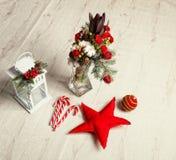英国兰开斯特家族族徽圣诞节花束  库存图片