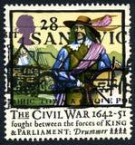 英国内战英国邮票 免版税库存图片