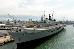 英国军舰 免版税图库摄影