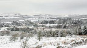 英国冬天风景场面 免版税库存图片