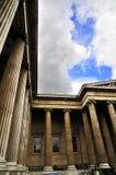 英国列伦敦博物馆柱子 免版税图库摄影