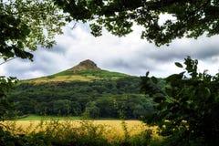 英国北部roseberry冠上的约克夏 免版税库存照片