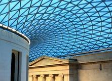 英国博物馆屋顶 免版税库存照片