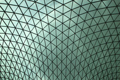 英国博物馆屋顶 图库摄影