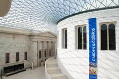 英国博物馆的内部在伦敦 库存图片