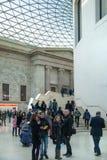 英国博物馆 主要大厅内部有图书馆的在一个内在围场 库存照片