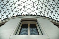 英国博物馆 主要大厅内部有图书馆的在一个内在围场 图库摄影