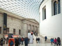 英国博物馆 主要大厅内部有图书馆的在一个内在围场 库存图片