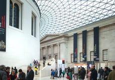 英国博物馆 主要大厅内部有图书馆的在一个内在围场 免版税库存图片