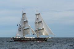 英国双桅船实验装置保皇党人航行 库存图片