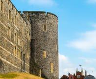 英国君主著名的温莎城堡 免版税库存照片