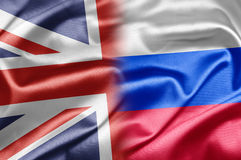 英国和俄国 库存照片