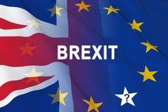 英国和欧洲人的旗子 免版税库存图片