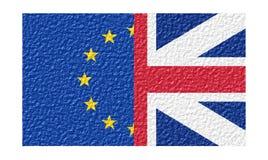 英国和欧盟旗子 库存照片
