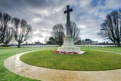 英国和联邦战争公墓在巴约,法国 免版税库存图片