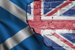 英国和苏格兰的旗子 图库摄影