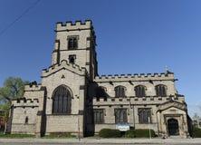英国哥特式教会在底特律 图库摄影