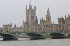 英国国会在伦敦市 库存图片