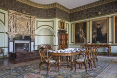 英国国家庄园家的内部 免版税库存照片