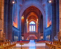 英国国教大教堂利物浦,利物浦 免版税库存图片