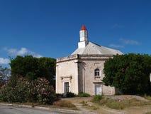 英国国教安提瓜岛教会parham peters st城镇 免版税库存图片