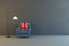 英国国旗椅子 图库摄影