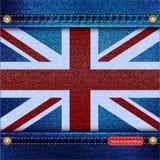 英国国旗牛仔布 图库摄影