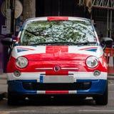 英国国旗被绘的汽车 伦敦, 图库摄影