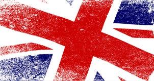 英国国旗退色 库存例证
